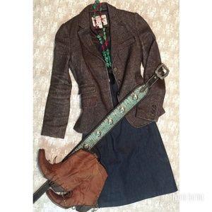Ann Taylor Denim Stretch Strapless Dress size 4